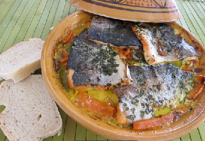 طريقة تحضير طاجين سمك السلمون