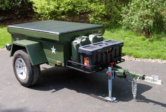Jeep Trailer Military style M416, M100, M101 build at home or custom build by Dinoot Trailers