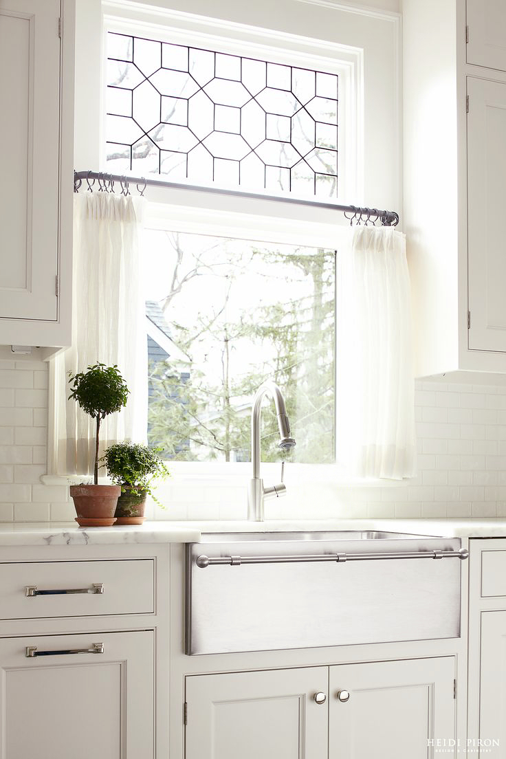 Delicious White Kitchen w Stainless Butler s Sink
