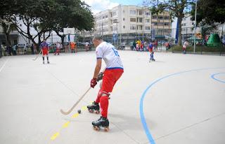 Jogo de exibição das equipes do Teresópolis Hóquei Clube