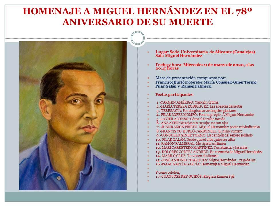 HOMENAJE A MIGUEL HERNÁNDEZ