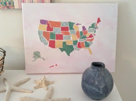 Bluet clover diy us map canvas art gumiabroncs Gallery