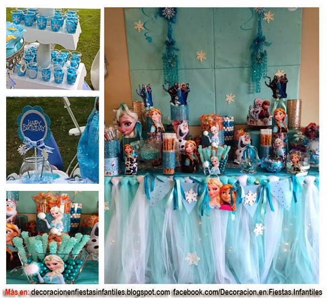 DECORACIÓN DE FIESTA FROZEN