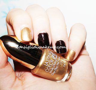 NOTD: Diamond Dust 001 + Lasting Color Gel 135 LE Stay Gold - Pupa Milano