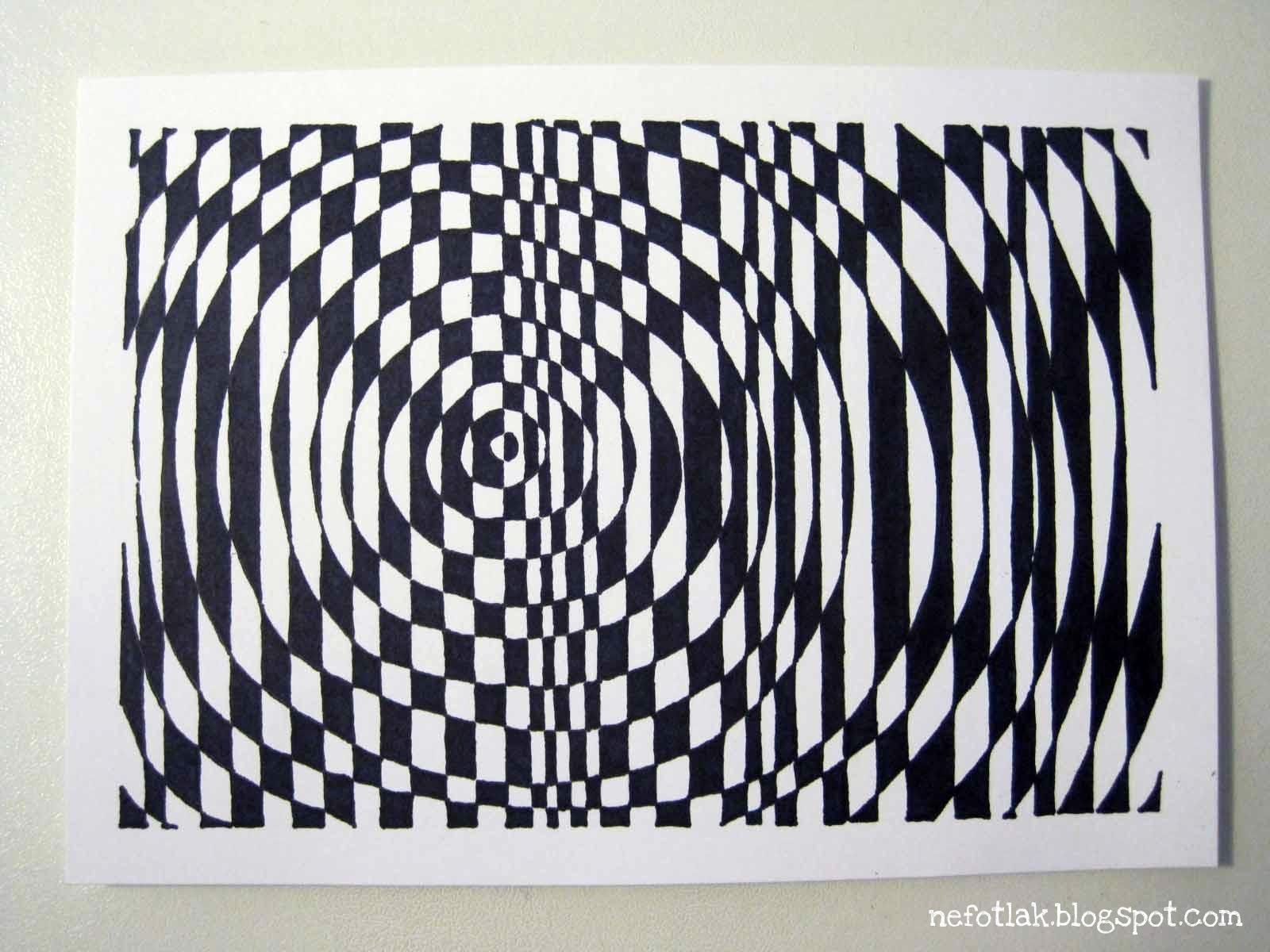 Simple Line Art Lessons : Nefotlak op art lesson