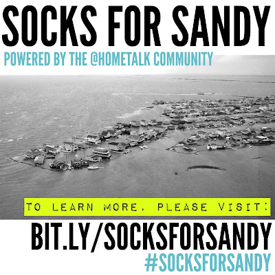 Socks for Sandy - a fundraiser to provide warm things to wear for Sandy survivors. Please donate what you can by Nov 9 2012!