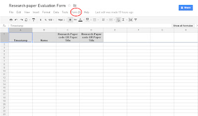 How to create a form using Google docs ScreenShot