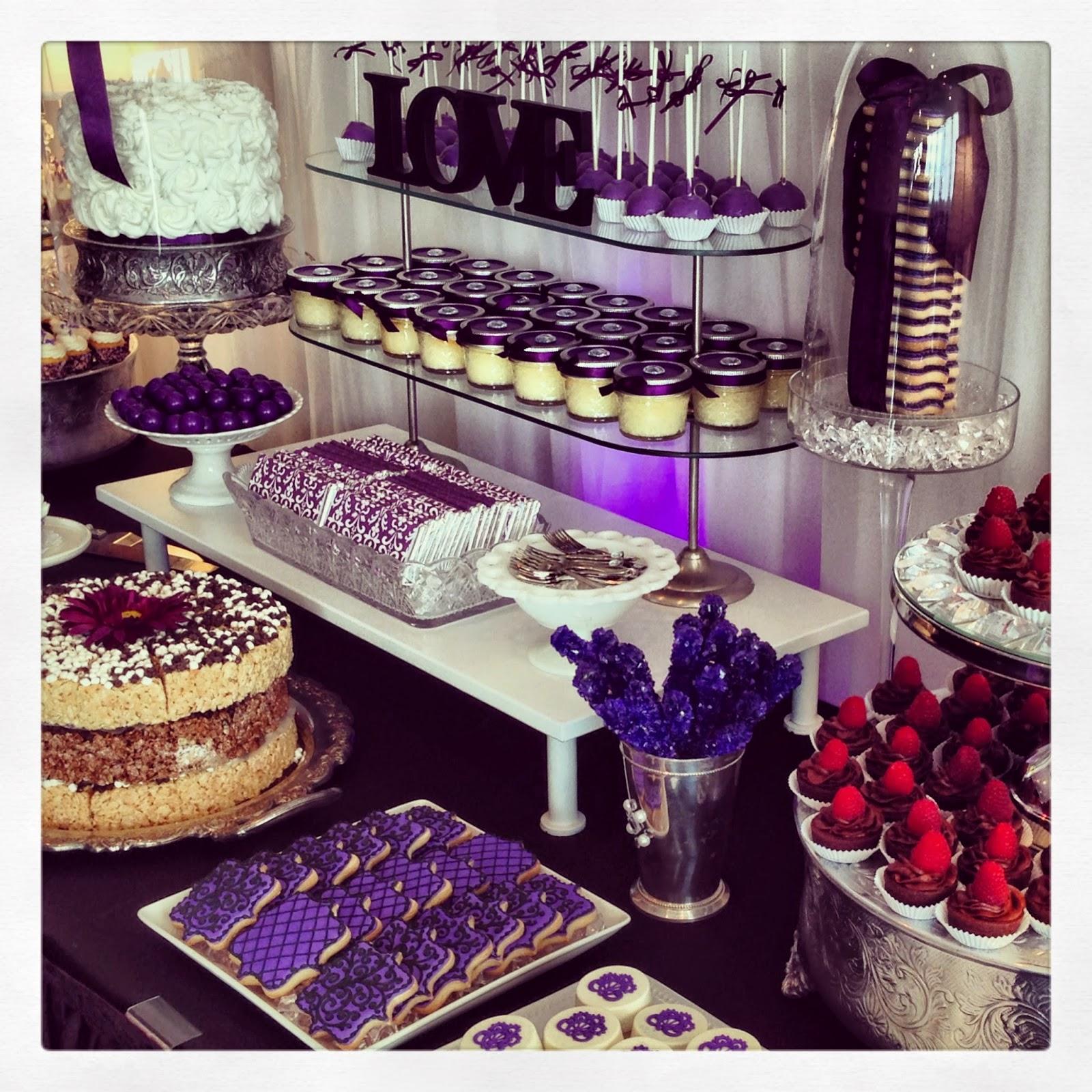 Purple Wedding Dessert Table: .Oh Sugar Events: Purple Wedding Table