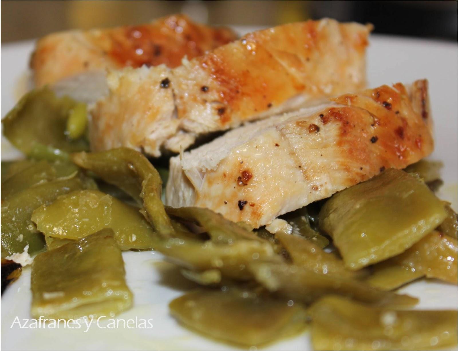 Pechuga de pollo al horno azafranes y canelas - Pechugas de pollo al horno con patatas ...