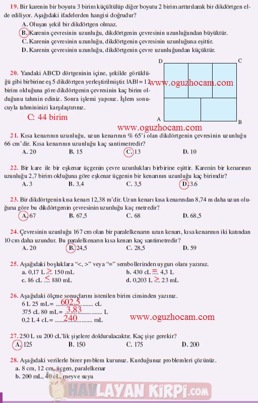 2013 2013 Meram Yayınları 6 Sınıf Matematik Dersi çalışma Kitabı