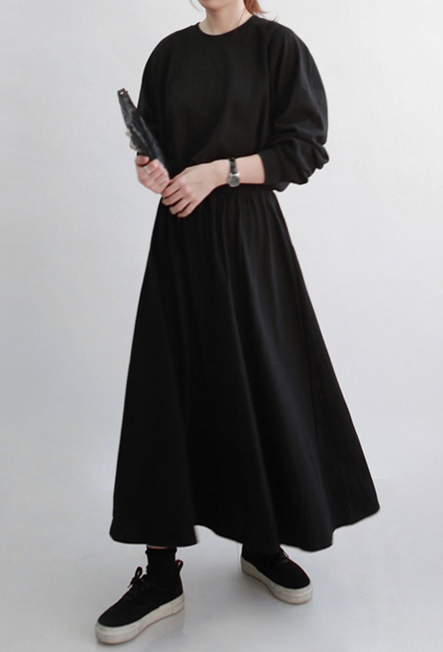 Raglan Sleeve Maxi Dress
