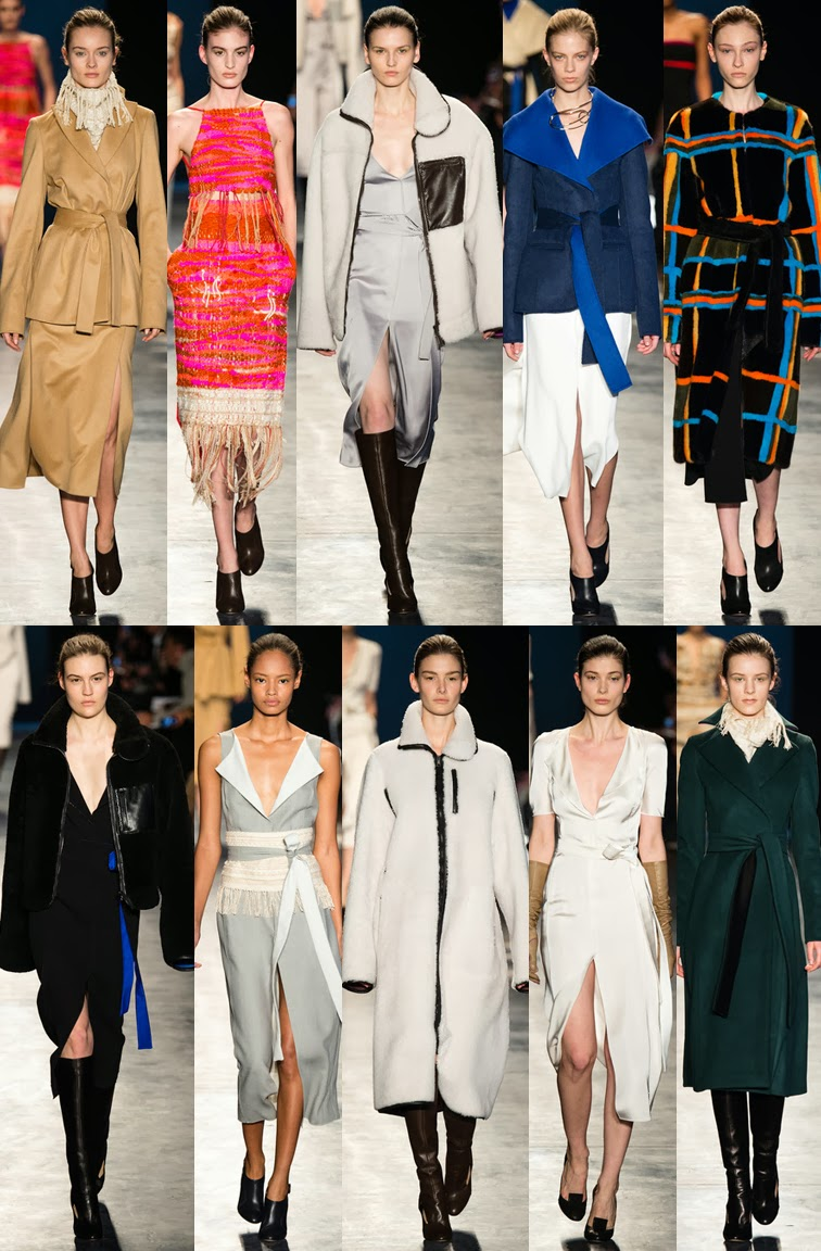 Joesph Altuzarra fall winter 2014 runway collection, NYFW, New York fashion week