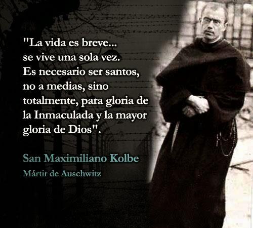 Personas que inspiran con su VIDA: San Maximiliano Maria Kolbe