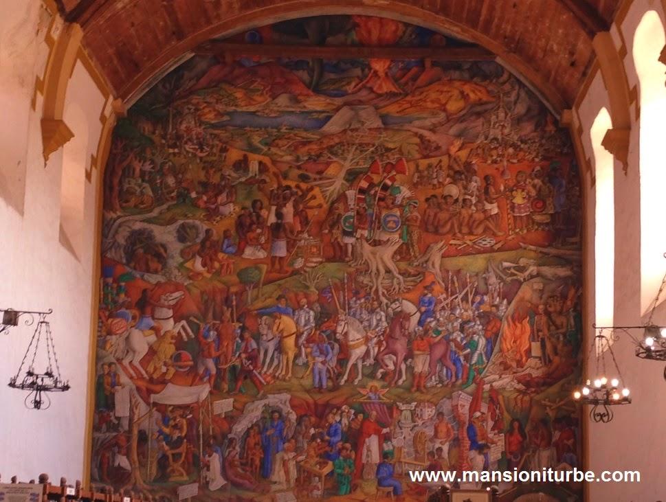 Mural sobre la Historia de Michoacán de Juan O'Gorman
