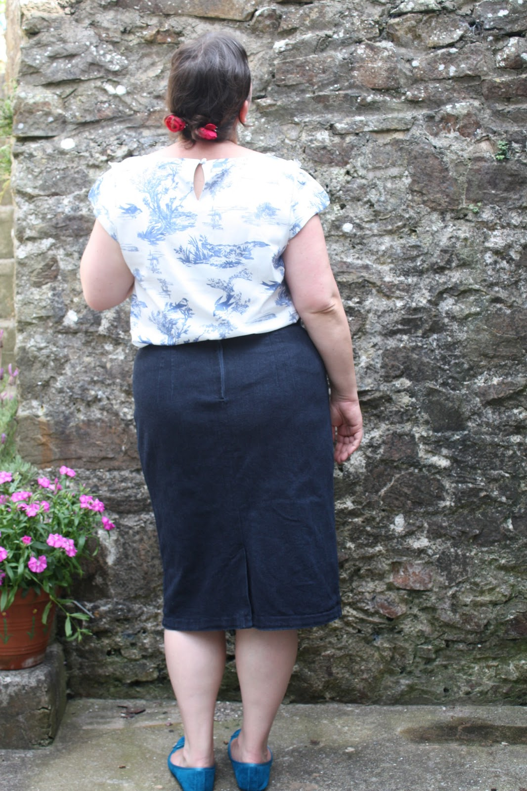 the sometime seamstress fo gertie pencil skirt in denim