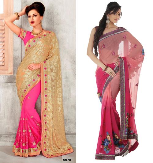 12 contoh foto dan desain gambar model baju sari india Baju gamis india terbaru