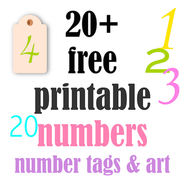 photo regarding Printable Number Tags referred to as ☞ 20+ no cost printable selection tags and posters - ausdruckbare