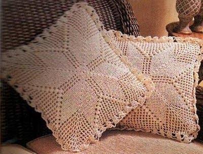 Trico y crochet madona m a almohadones cojines de - Cojin de crochet ...