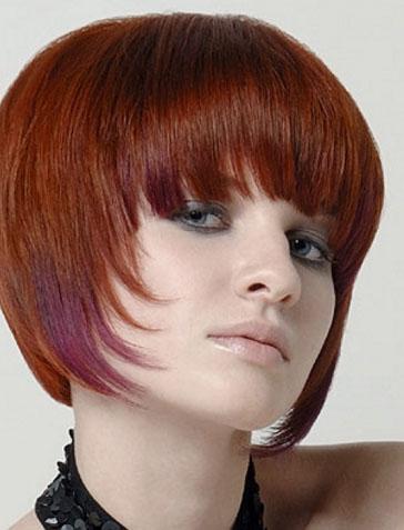 Fiery Red Bob Hair Style 2013