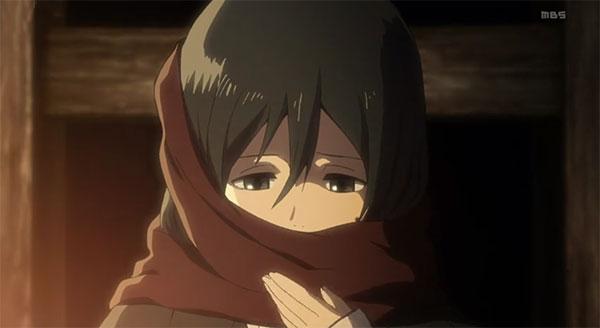 Mikasa Ackerman (Shingeki no kyojin) - Karakter anime yang memakai syal merah