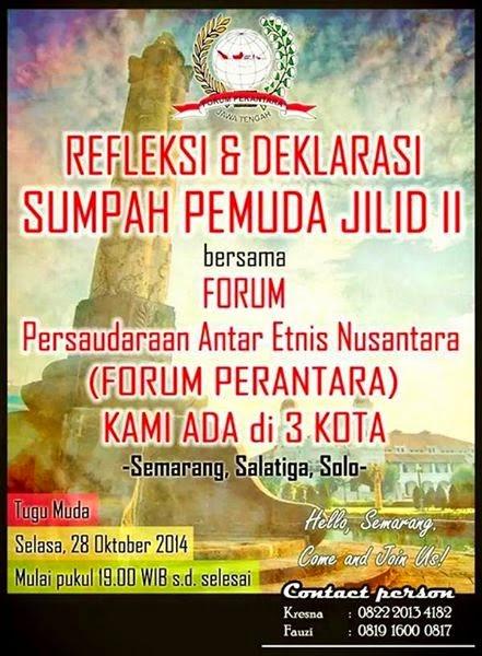 Peringatan Sumpah Pemuda 28 Oktober di Tugu Muda Semarang