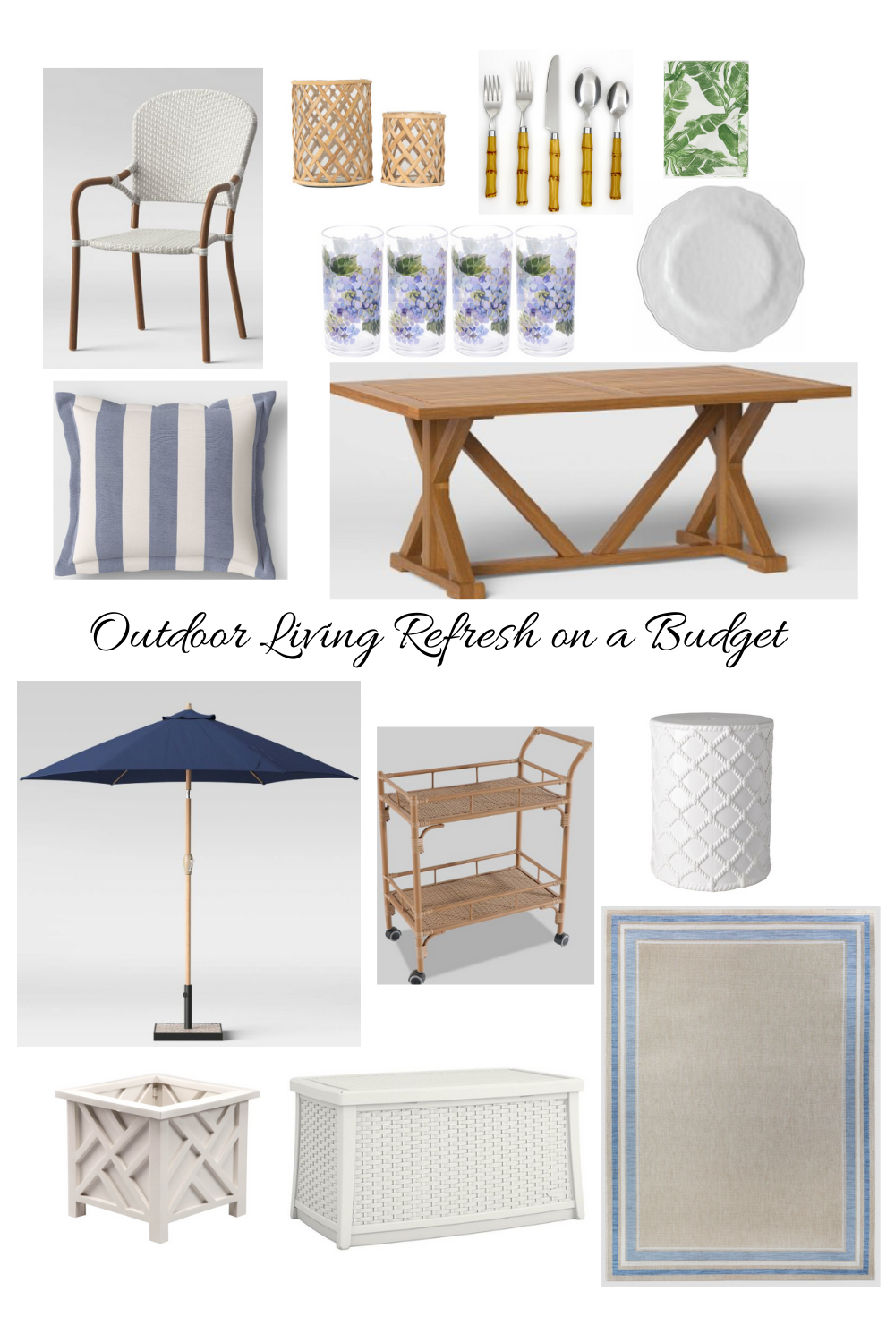Outdoor Living Refresh on a Budget