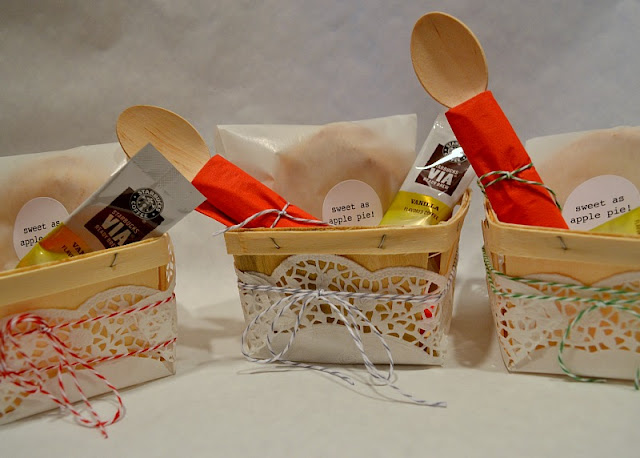 wooden berry box favors