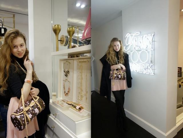 Annie Robinson, fashion blogger, louis vuitton, pink, girly, cute, street style, kate spade