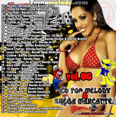 Cd Top Melody & Brega Marcantes 2013 Vol.06 - Dj Blackmix