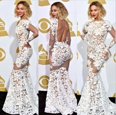 Beyonce Knowles 2014 Grammy Pictures