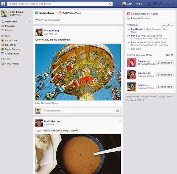 Un nouveau fil d'actualité Facebook arrive