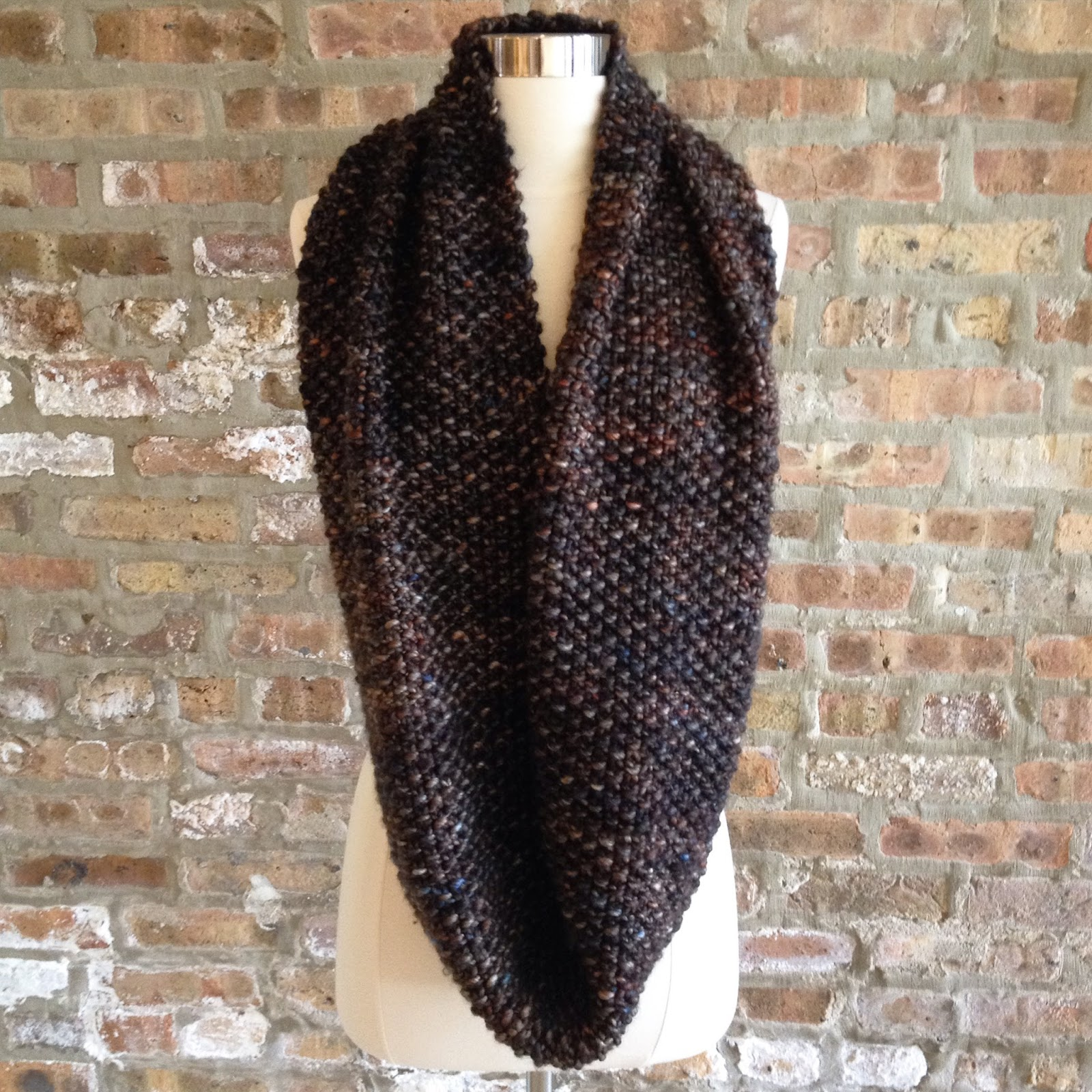 Clementine Knits: Clementine Knits Seed Stitch Infinity Scarf Pattern