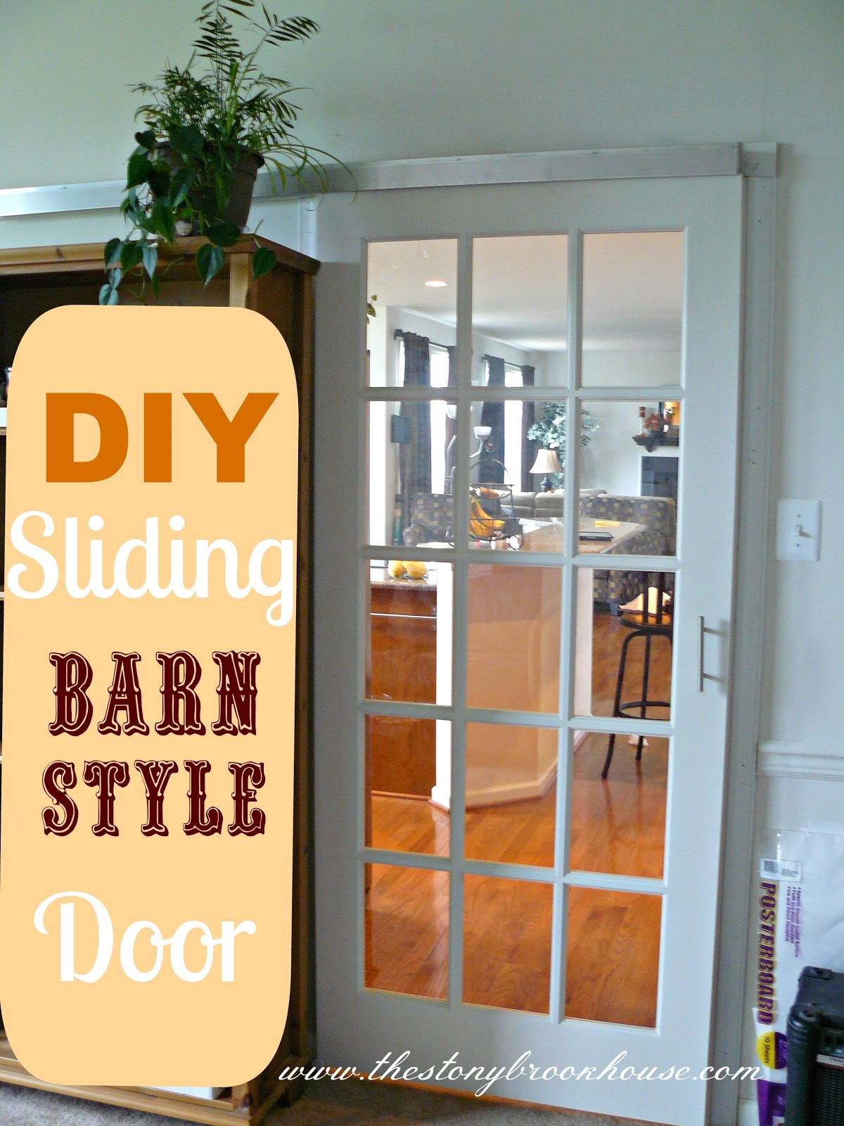 DIY Sliding Barn Door 1200 x 1600