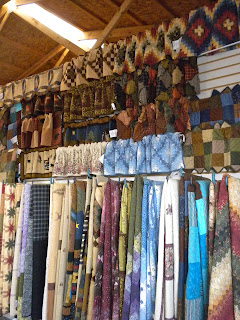 Homemade quilts at the Shipshewana Flea Market