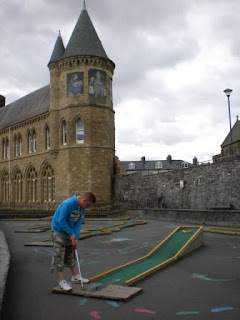 Crazy Golfing in Aberystwyth