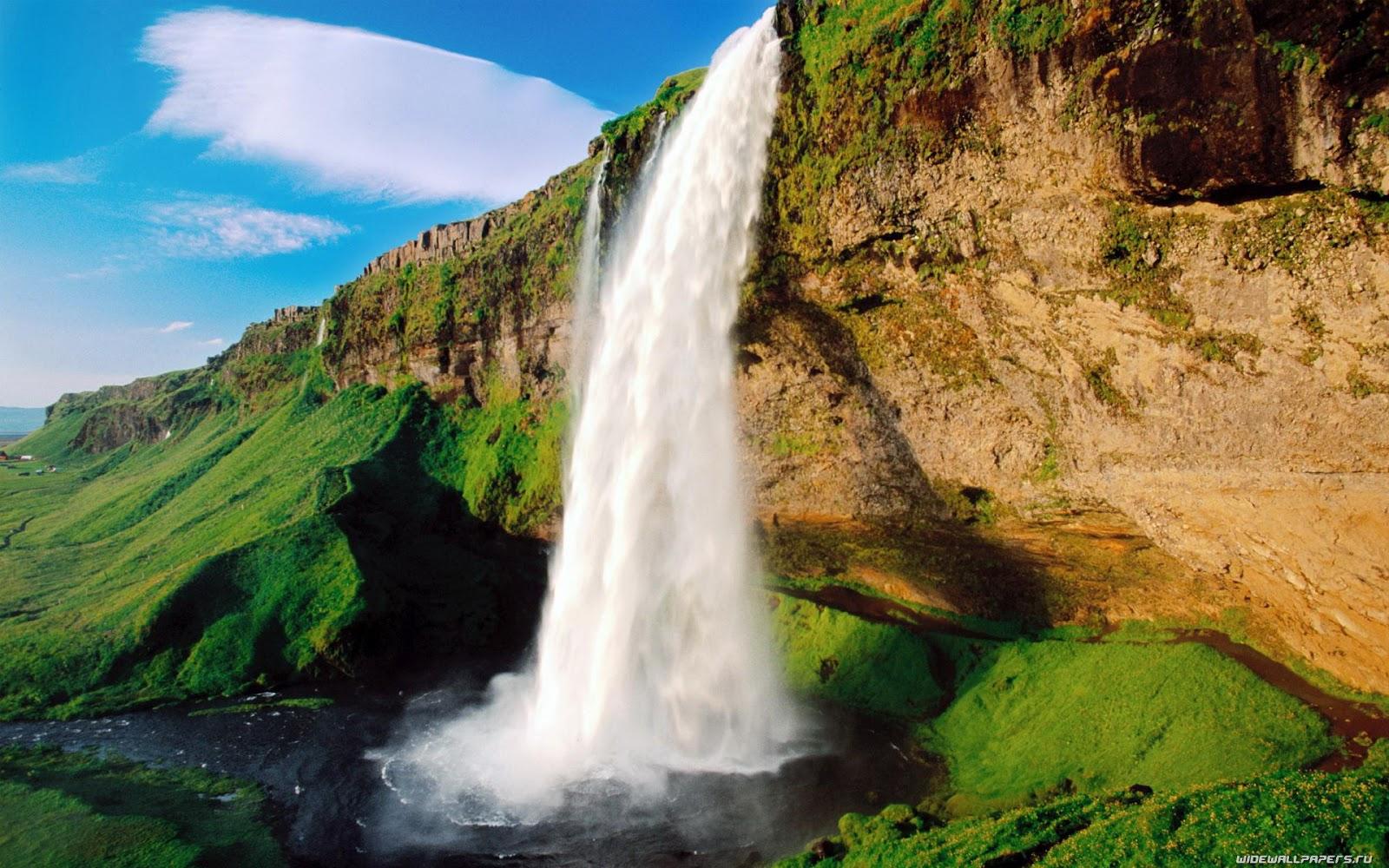 greenery waterfall scenery wallpaper | scenery backgrounds
