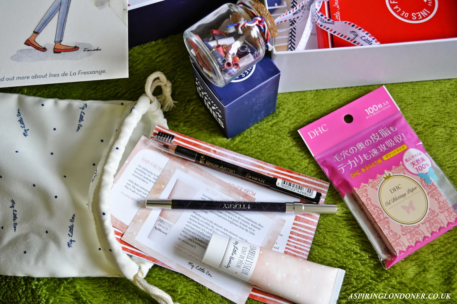 My Little Frenchie Box February 2015 Review ft By Terry, L'Oreal, DHC & My Little Beauty - Aspiring Londoner