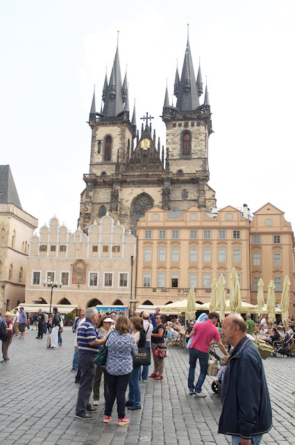 wisata, traveling, Prague, Czech Republic, Old Town Square,  Gothic Church of Our Lady before Týn