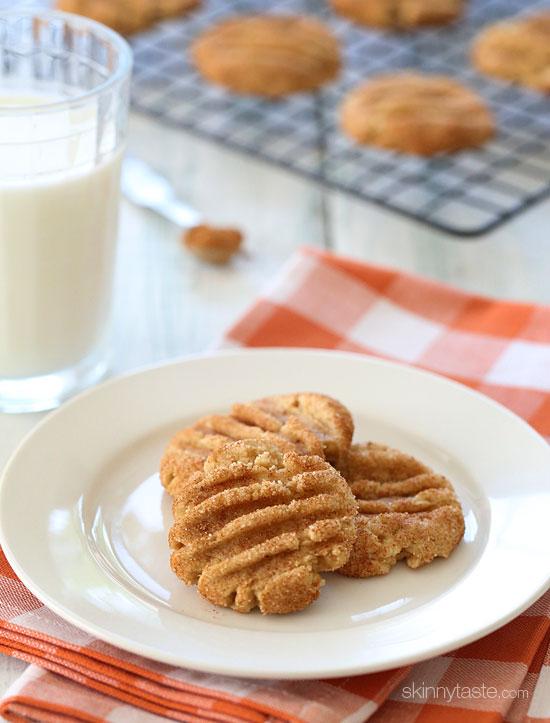 Skinny Pumpkin Spiced Snickerdoodles | Skinnytaste