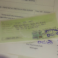 Bill of Payment for Customer