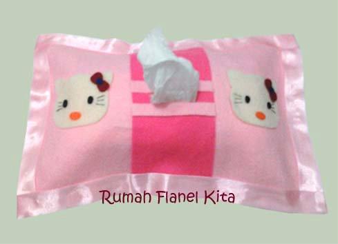 kreasi flanel tempat tissue flanel