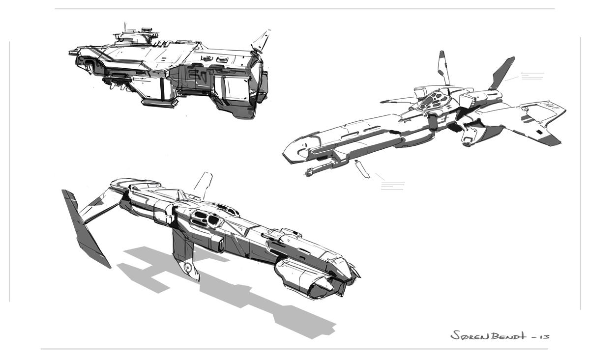 amazoncom blast spaceship sketches and renderings - 1200×727