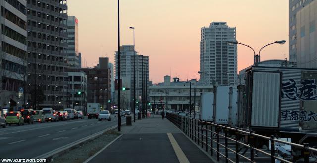 Atardecer en Fukuoka en el sur de Japón