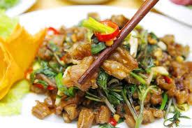 Chân vịt xào bầu dục bổ dưỡng, thơm ngon
