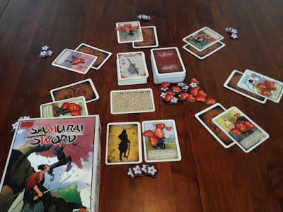 Samurai Sword card game in play