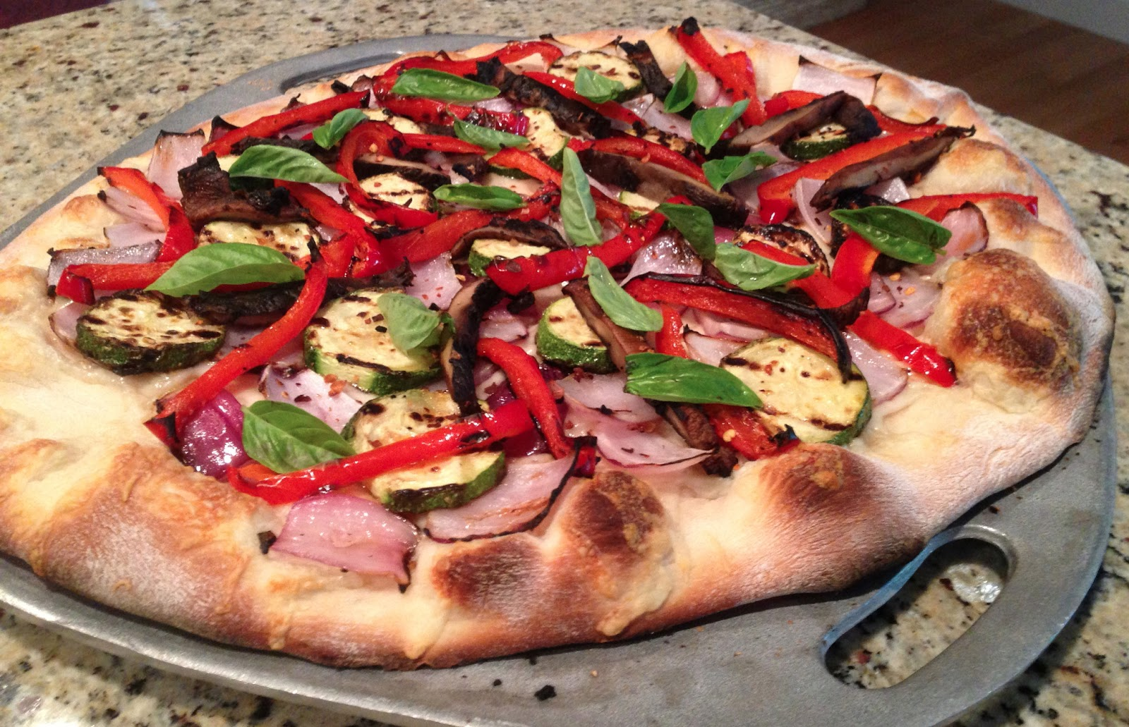 all about amanda's food: grilled vegetable and fontina pizza
