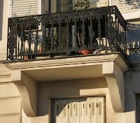 Balcon du 34 quai de Béthune à Paris