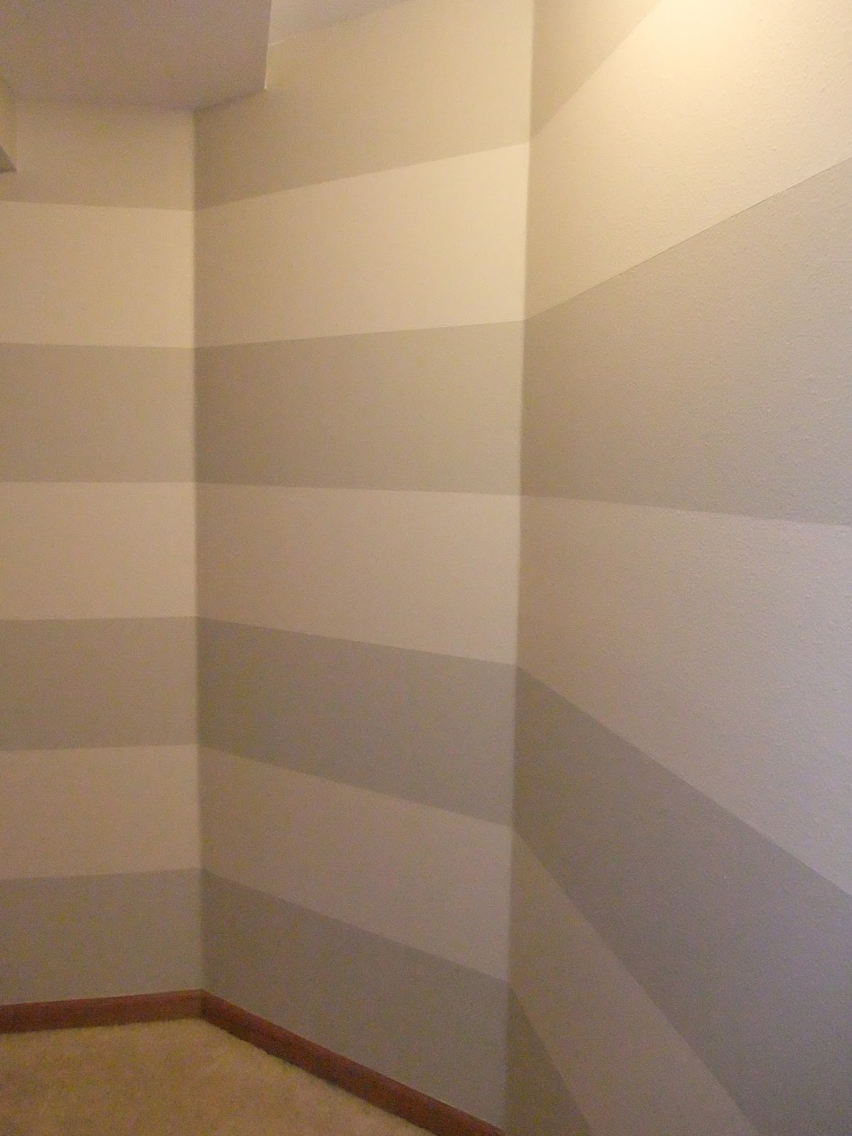 Just Another Hang Up Painting Stripes on Textured Walls