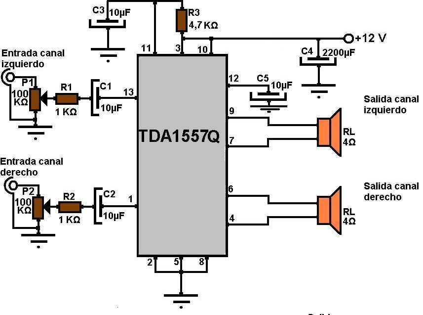 amplificadores de audio  amplificador est u00e9reo de 22 w  con