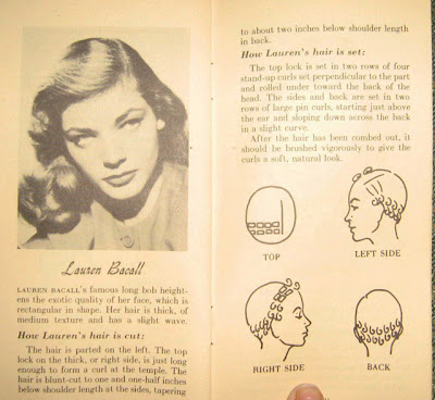 Lauren Bacall setting pattern